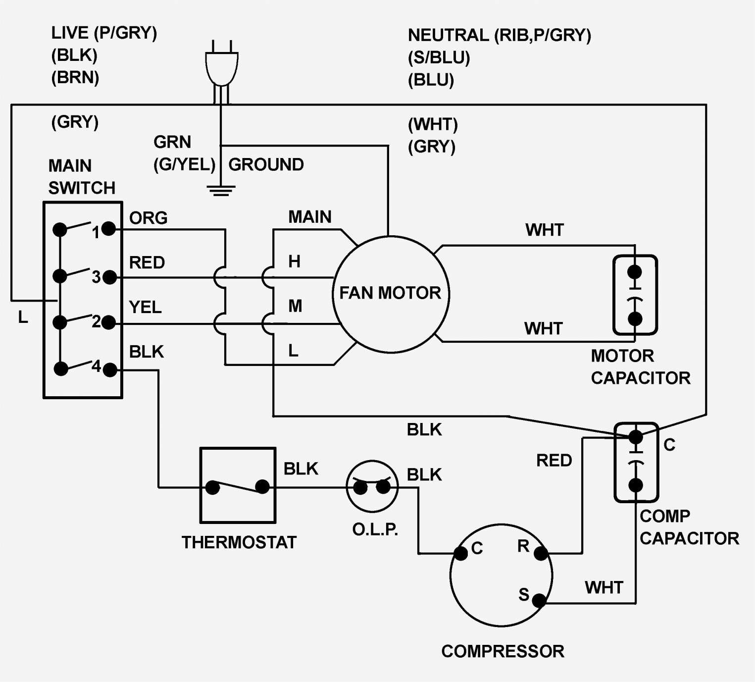 Ge Electric Motor Wiring Diagram And Ge Ac Wiring Diagram Wiring Diagram Ac Wiring Thermostat Wiring Circuit Diagram