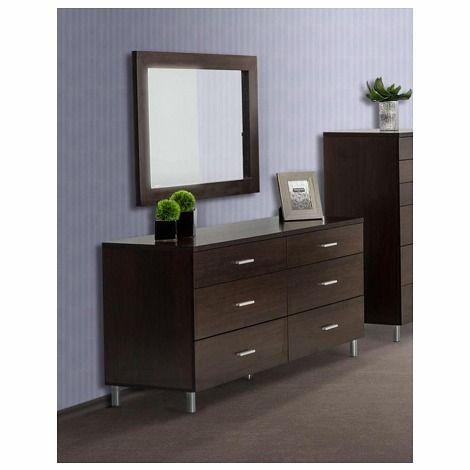 Wenge Glossy Finish, Rectangular, Dresser Available Separately