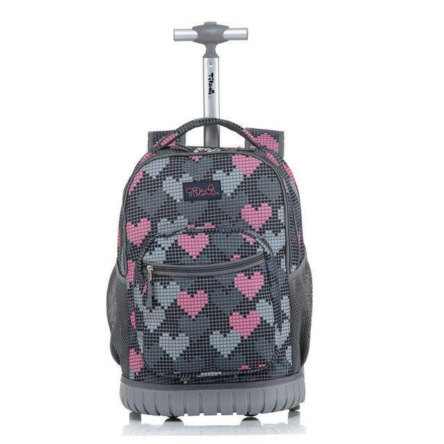 Msmo Luggage 18 Inch Rolling Backpack Wheeled Book Bag Kids Children Trolley School Laptop
