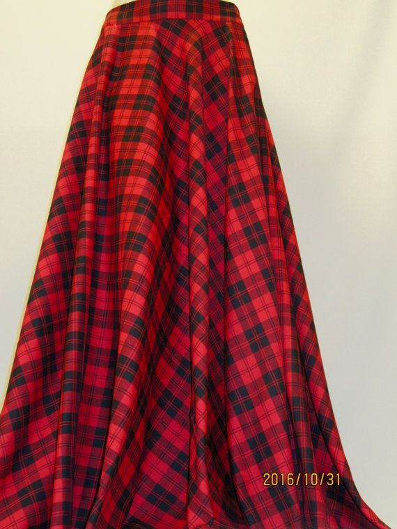 ce99479ed99c Red Menzies Full Circle SkirtChristmas Party Wear by SOHOSKIRTS
