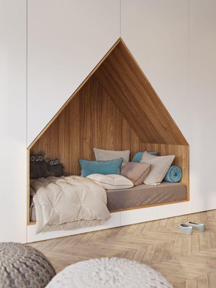 chambre enfant design idée lit intégré