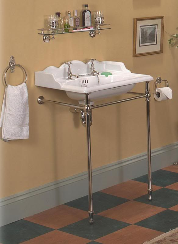 Charmant Thomas Crapper 25 Inch Washbasin Stand Set Is Sold With A Waste Tray And  Trap