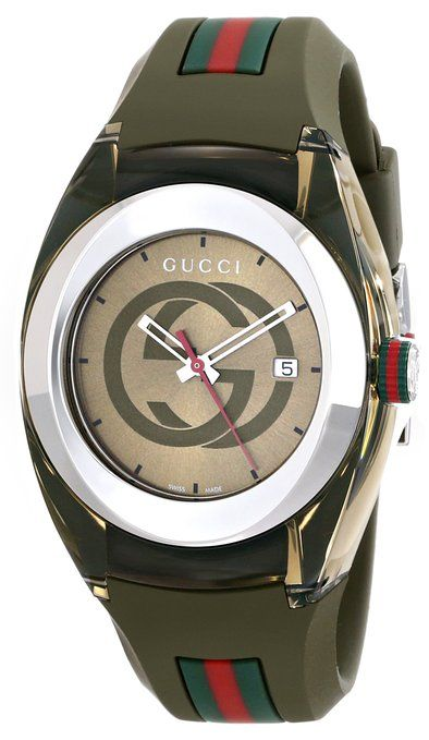 745c68ab960 Can t wait to get this! I earned it! Gucci SYNC L YA137306 Khaki Green Swiss  Quartz Watch