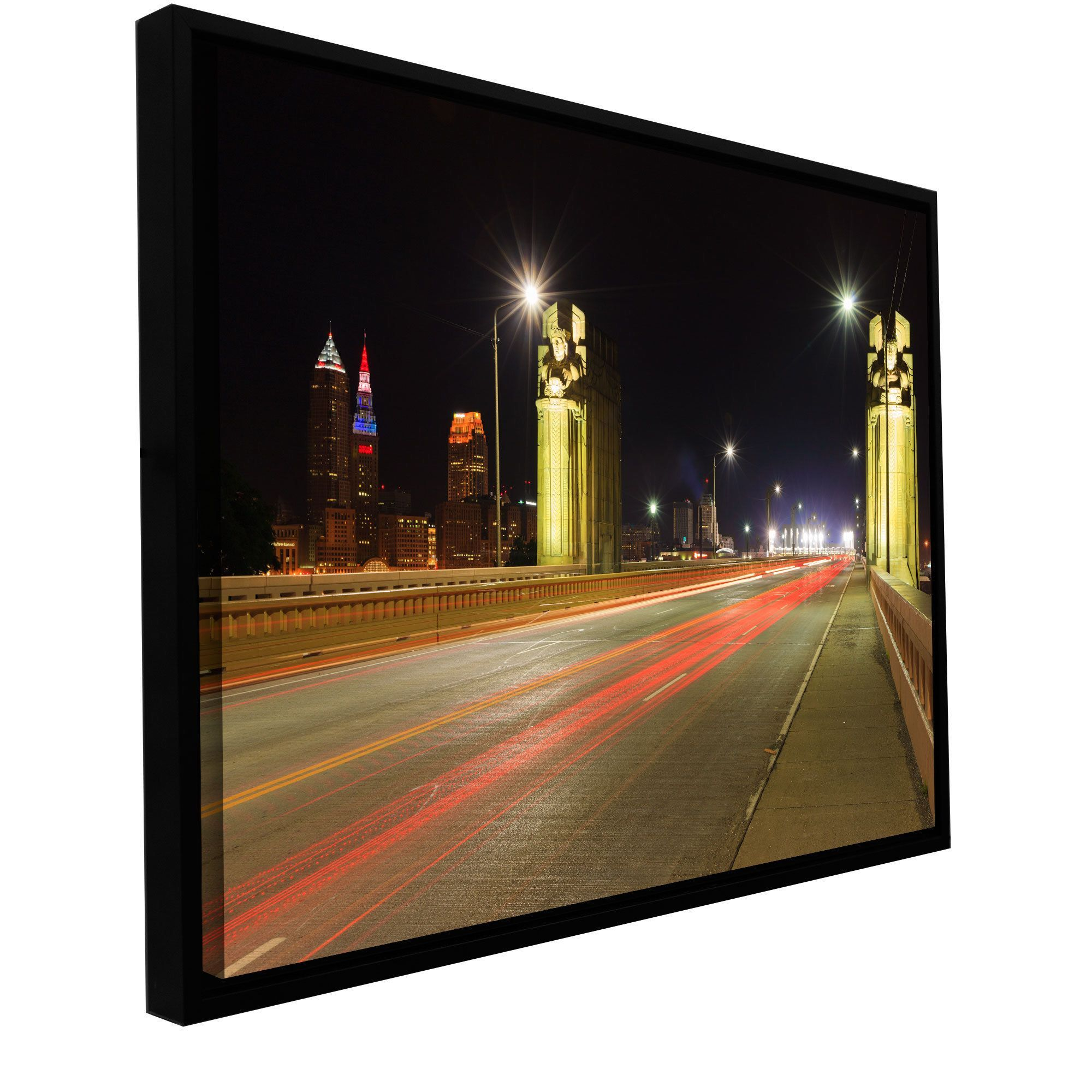 artwall cody york cleveland 7 floater framed gallery wrapped