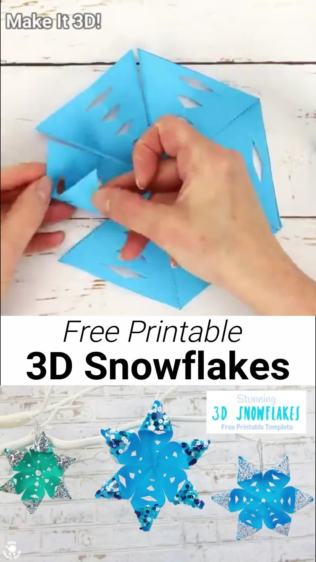 Photo of Stunning 3D Snowflake Craft