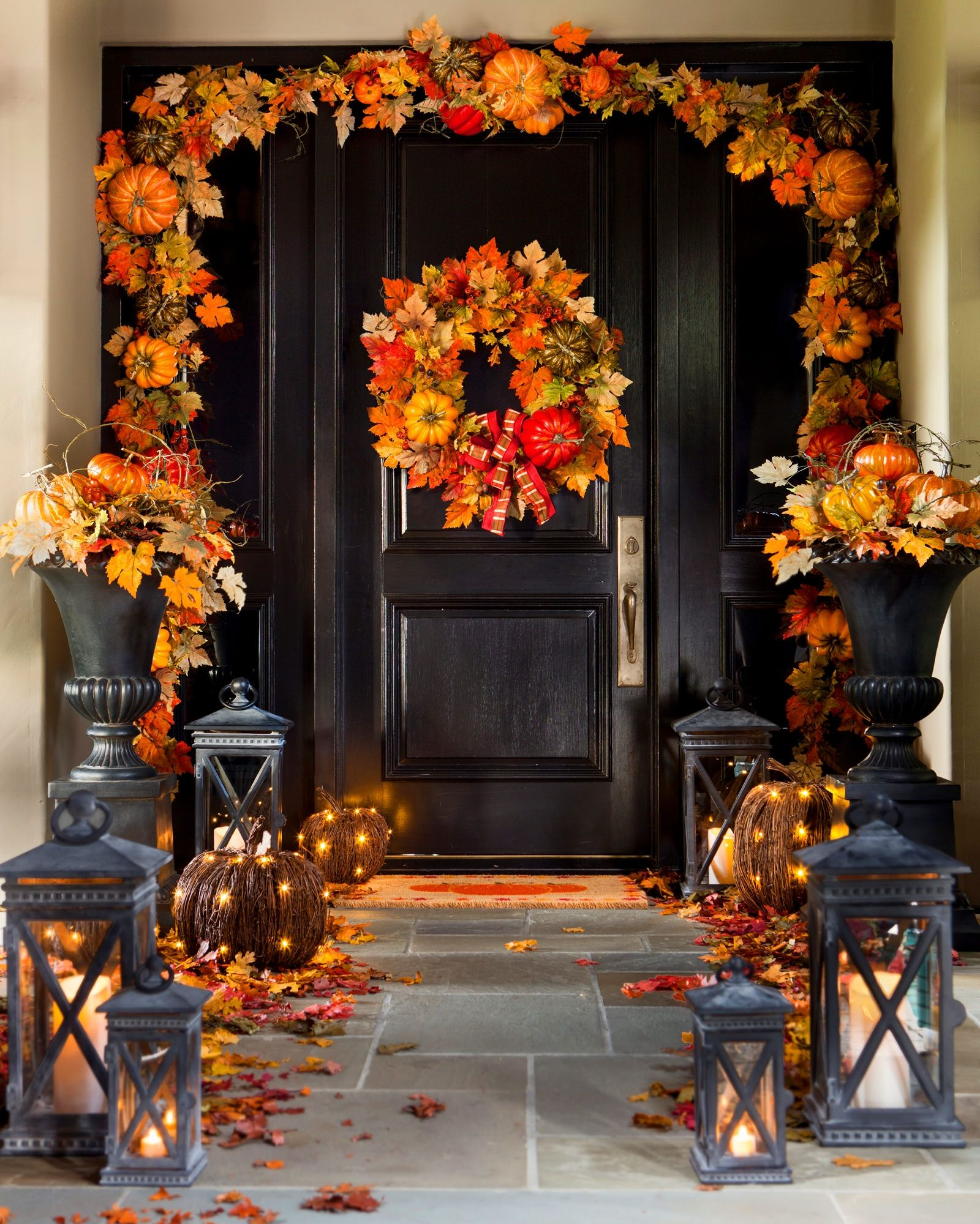 Halloween Urn Decorations Captivating Mybalsamhillhome Autumn Leaves Foliage  Balsam Hill Review