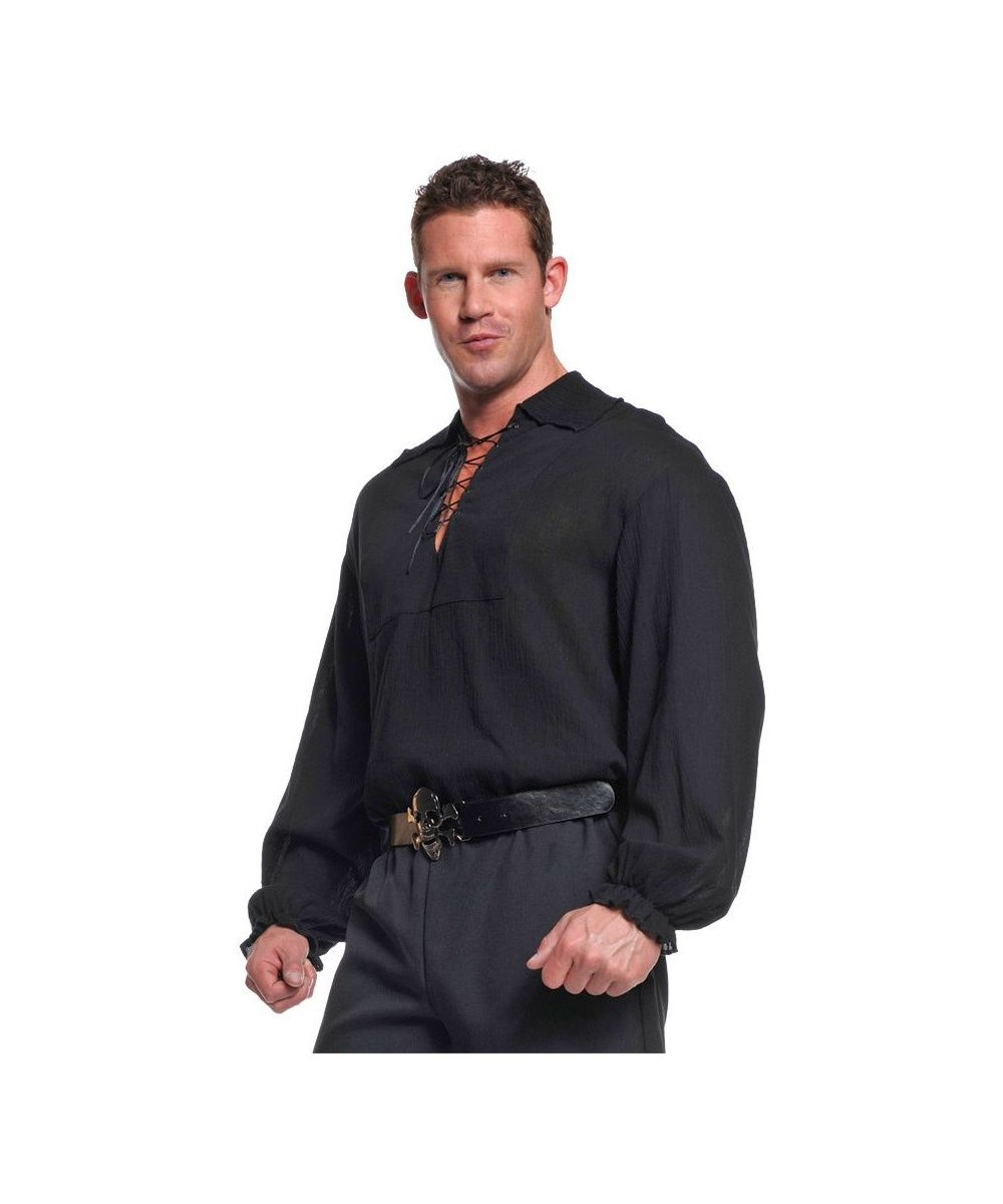 The Mens Black Pirate Costume Shirt celebrates Manly Pirate Sexiness. Be a stud in this Black Pirate Shirt equivalent to a Tuxedo by Pirate Standards.  sc 1 st  Pinterest & Adult Pirate Shirt Costume Black - Pirate Costumes | costumes ...
