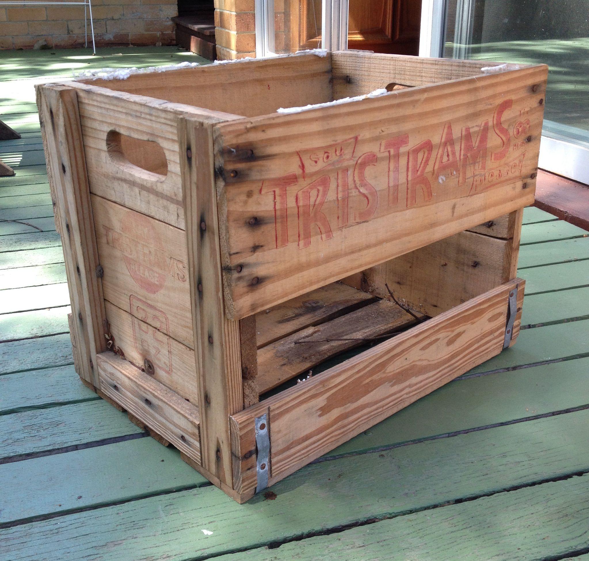 Old soft drink crate   Diy pallet furniture, Pallet ...