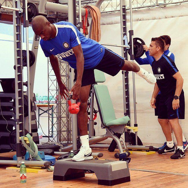 Geoffrey #Kondogbia al lavoro / @geoffreykondogbia training #Brunico2015 #Inter #FCIM #FCInternazionale