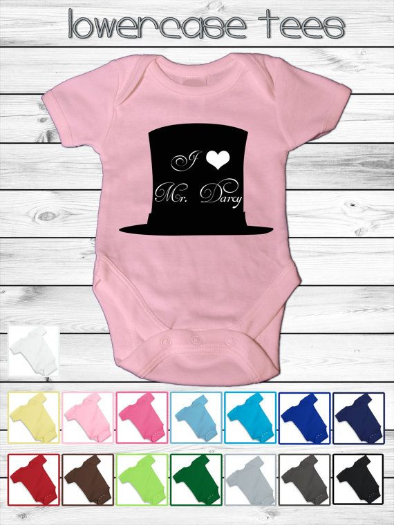 Baby Jane Austen Pride and Prejudice Onesie  5 by lowercasetees, $18.00 LIKE US ON FACEBOOK FOR A CHANCE TO WIN A FREE TSHIRT! DRAWING 10/25/13