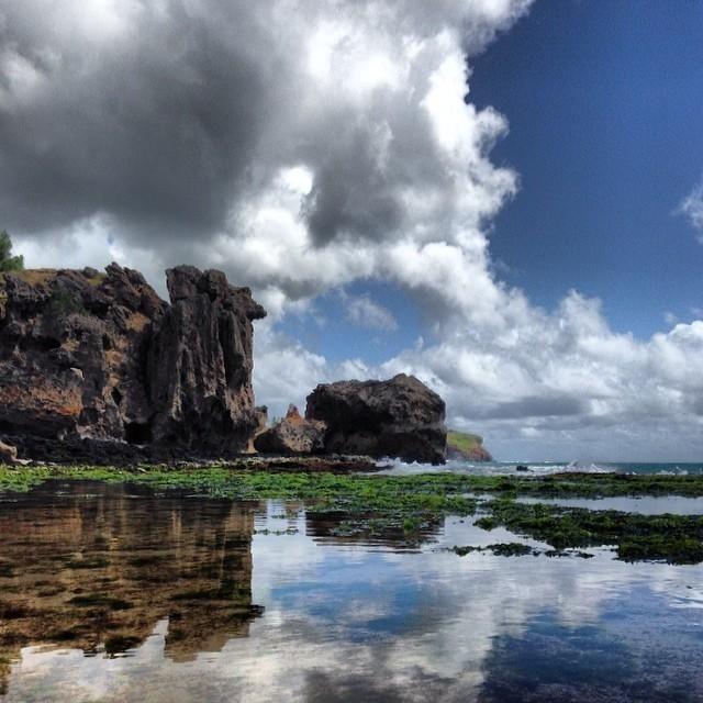 Unbelievably pristine #reflections in Maha'ulepu. Photo courtesy of luisfern5 on Instagram.