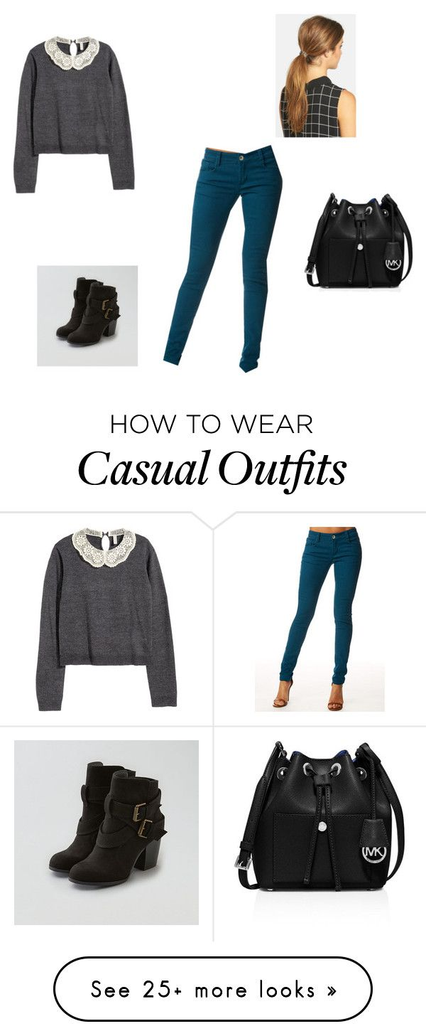 """""""Casual//Alex"""" by trendsetters411 on Polyvore featuring Alloy Apparel, H&M, American Eagle Outfitters, MICHAEL Michael Kors and Ficcare"""