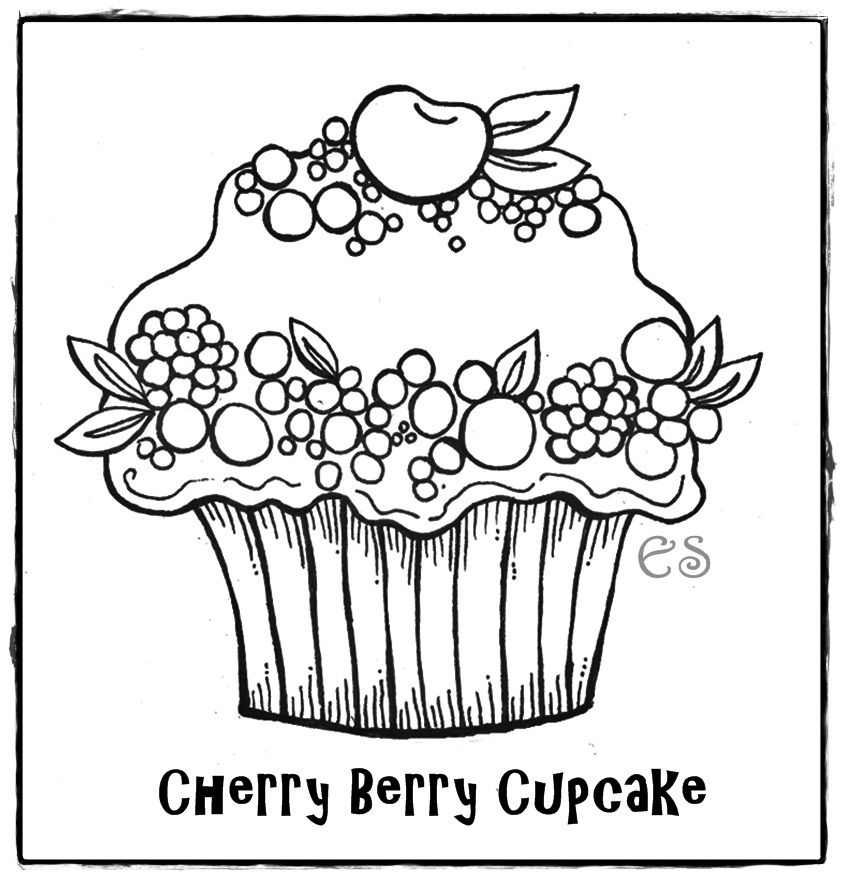 Cute Birthday Cupcake Coloring Pages Free Printable Pictures