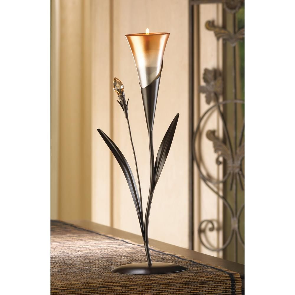 dawn blossom tea light candle holder wedding table centerpieces