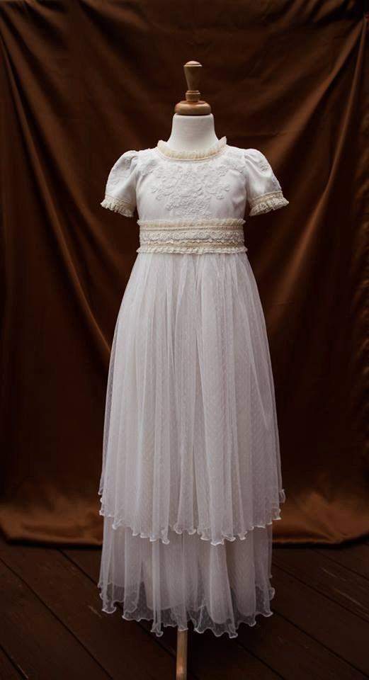 341fd08572991 The Katarina Couture Dress First Communion by ButterCreamDolls Girls Lace  Dress, Lace Flower Girls,