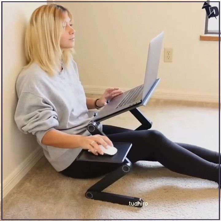 360 Adjustable Portable Folding Laptop Desk WORK FROM HOME: The lap tray is portable workstation that makes working from home easier. Simply move the laptop stand to your next work are  #Makeup #Ideas #Haircuts #Curly #Tutorial #Natural