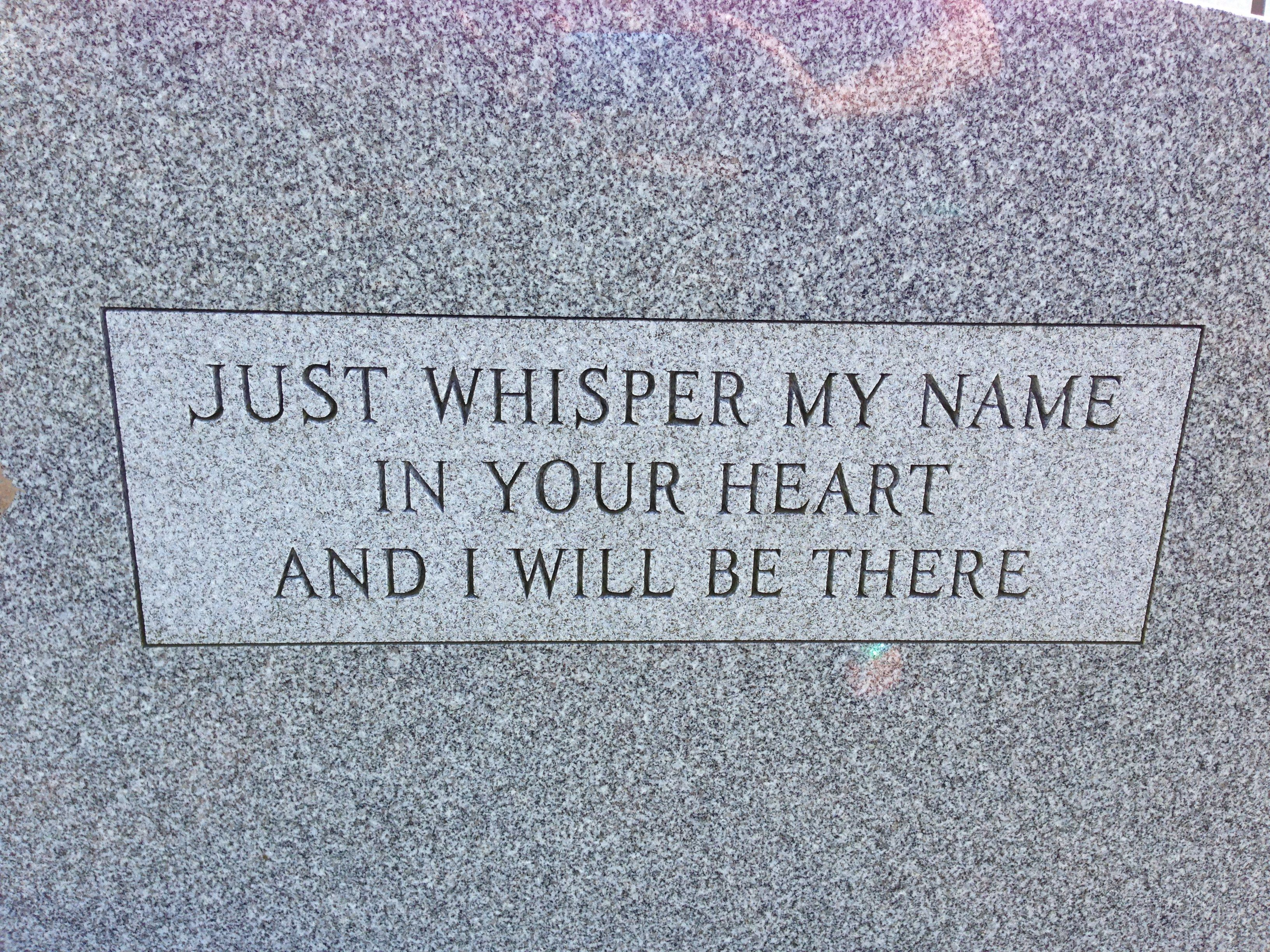 Beautifuli saw this on the back of a grave stone what a funeral buycottarizona