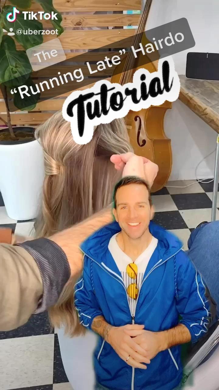 'Running Late' Hairstyle FULL Tutorial