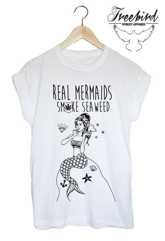 27700f4e0 REAL mermaids SMOKE seaweed grunge sea tshirt by FreebirdApparelUK, $24.00