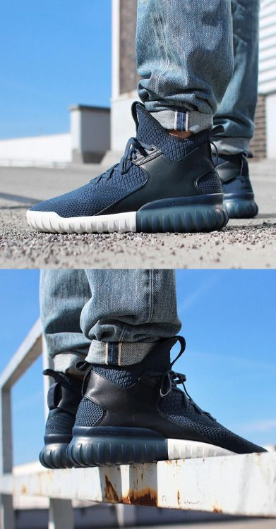 adidas tubular on feet