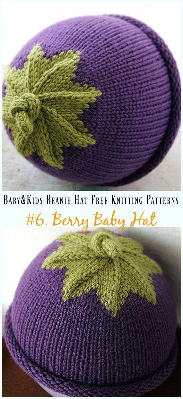 Baby & Kids Beanie Hat Free Knitting Patterns   gorros y sombreros ...