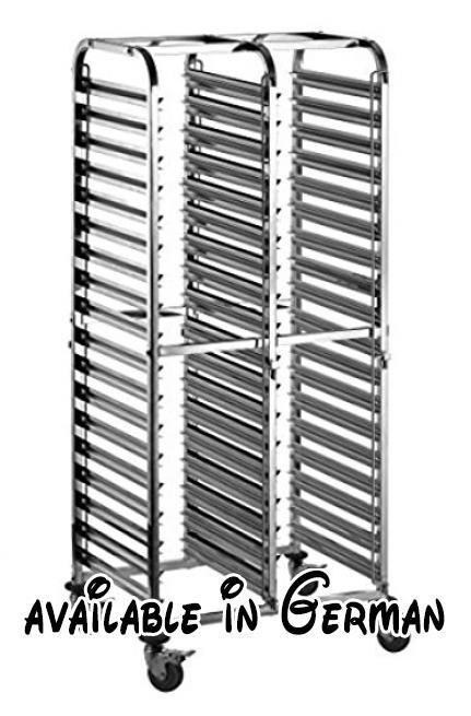 B06X3WP6BY : GN-Wagen - Tablett Wagen mit 18 oder 36 Einschüben für GN-Behälter und Backbleche - Transportwagen mit Leichtlaufrädern und Bremse - Stikkenwagen (36 x 1/1 GN). Transportwagen mit Leichtlaufrädern. einfaches rangieren auch bei Hoher Belastung. passen für 1/1 GN Behälter - 1/2 GN Behälter. Kombigerät ermögicht die Aufnahme von GN-Behälter und Blechen/Roste in 600x400mm. Feststellbremsen an allen Rädern - verschließbare Einschubbegrenzungen