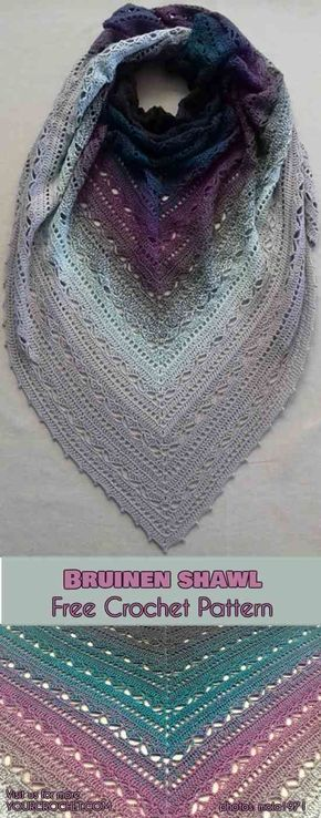 Photo of Bruinen Sjal [Free Crochet Pattern]