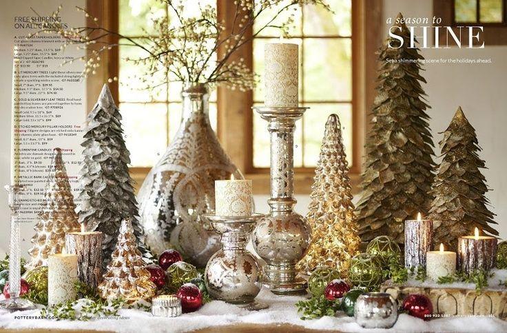 Pottery Barn Holiday Christmas Decor Holidays Pinterest Centerpieces