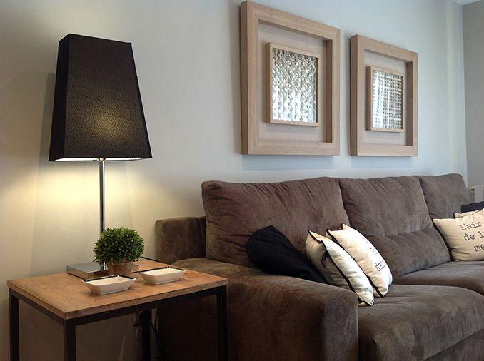 sofa marron decoracion  Buscar con Google  Ideas casa