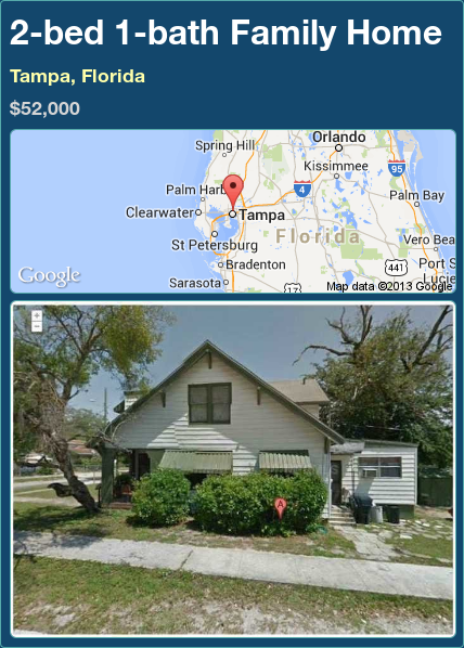 2-bed 1-bath Family Home in Tampa, Florida ►$52,000 #PropertyForSale #RealEstate #Florida http://florida-magic.com/properties/82950-family-home-for-sale-in-tampa-florida-with-2-bedroom-1-bathroom