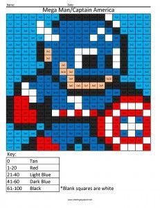 mega man captain america multiplication coloring page | coloring ... - Mega Man Printable Coloring Pages