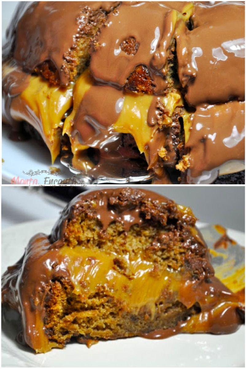 e597a49bf Pão de Mel, Tradicional pão de mel, recheado de doce de leite na panela de  pressão e coberto com chocolate ao leite