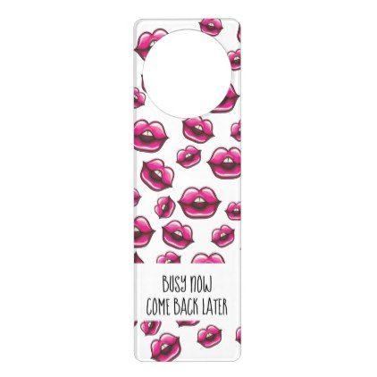 Lots Of Lips With Message Door Hanger