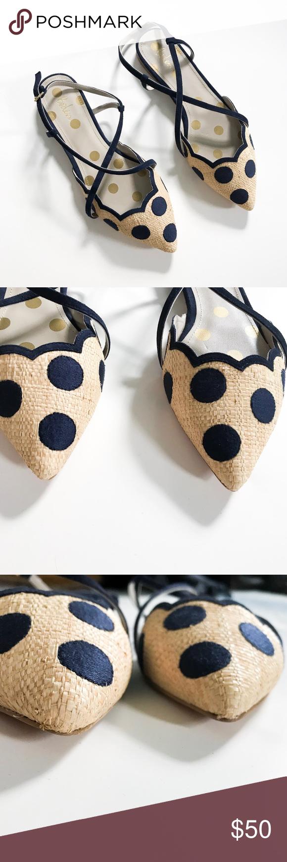 Navy polka dots, Boden shoes