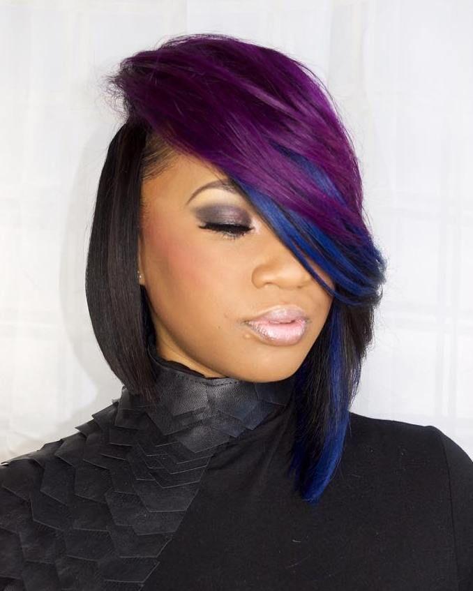 60 Showiest Bob Haircuts for Black Women | Short weave ...