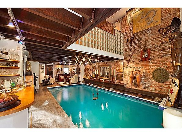 Home indoor pool with bar  Break Out the Speedos! See 10 Amazing Indoor Pools | Indoor pools ...