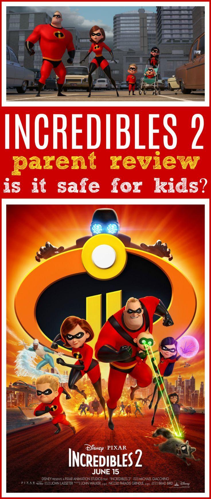 Incredibles 2 Movie Review 2 movie, Kids safe, Disney