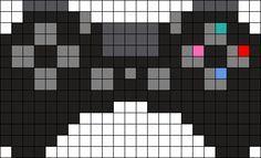 Ps4 Controller Perler Bead Pattern Stuff For Minecraft