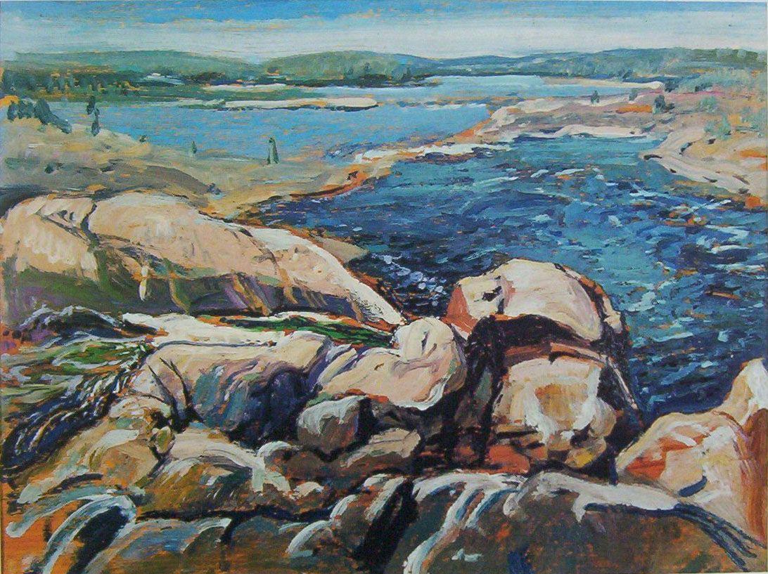 Canadian modern art brink of the falls arthur lismer