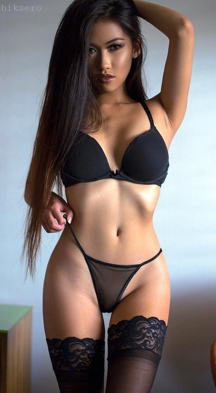 Asian Models Black Bra
