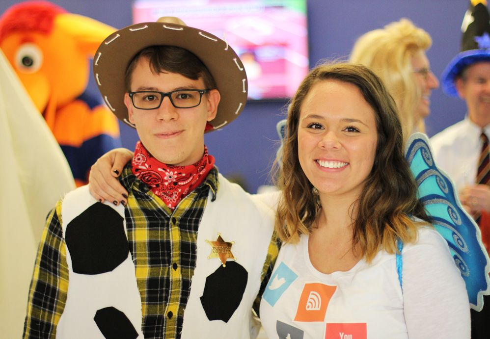 The Halloween Costume Contest winners - tied for first place!