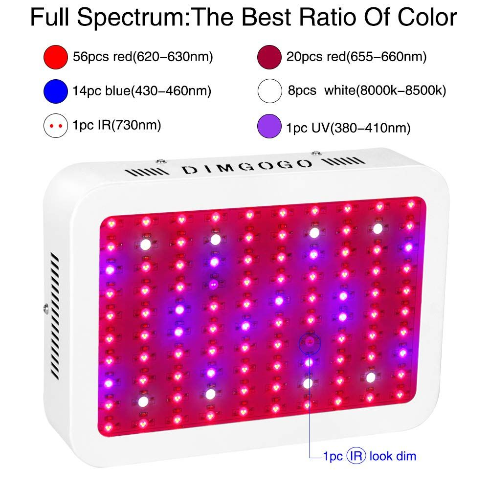 Led Grow Light 1000w Dimgogo Full Spectrum Dualchip Growing Lamp For Hydroponic Indoor Plants Veg And Led Grow Lights Grow Lights For Plants Grow Light Fixture