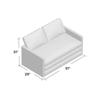 Prime Zipcode Design Earl Reversible Sleeper Loveseat Upholstery Caraccident5 Cool Chair Designs And Ideas Caraccident5Info