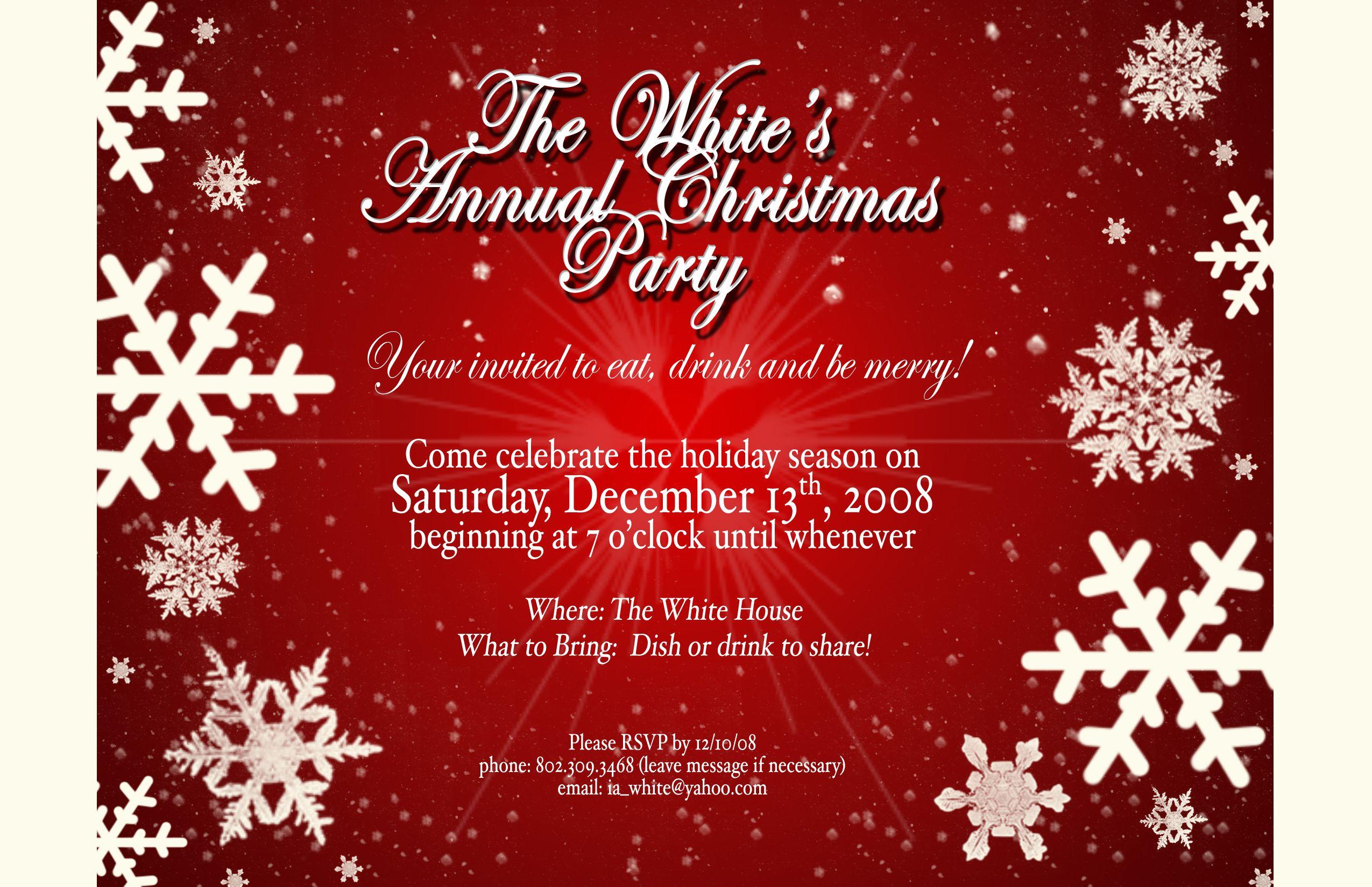 Holiday Party Invitation Holiday Party Invitation Template