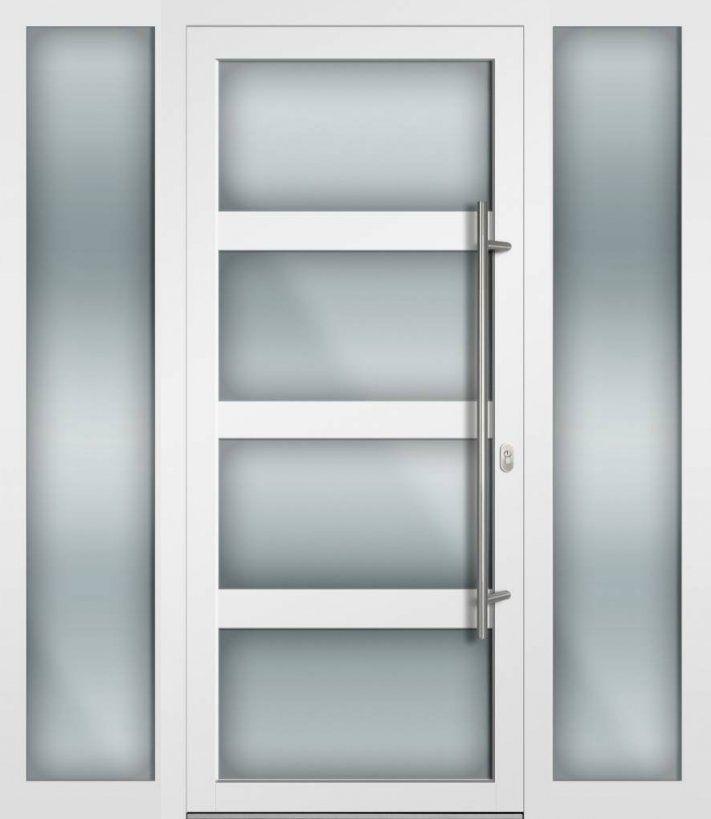 Haustür Weiß Glas Mehreren Renovieren Arbeitsplätze Könnte Einfach