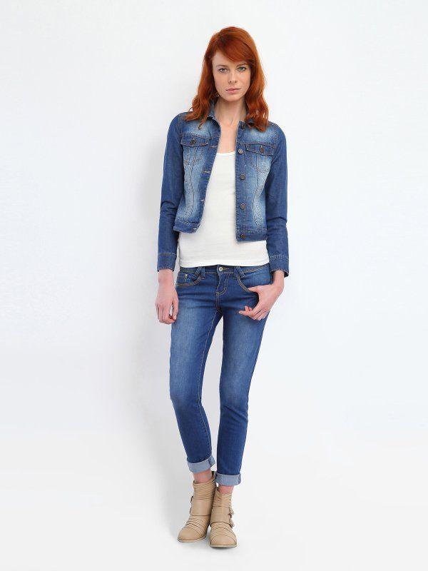 3818d9b26c4f2c Kurtka jeansowa damska Top Secret   Jeans! Denim Fashion   Kurtki ...
