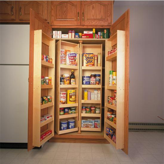 Corner Pantry Shelves: The Chef's Pantry Systems Are Made From Hardwoods And