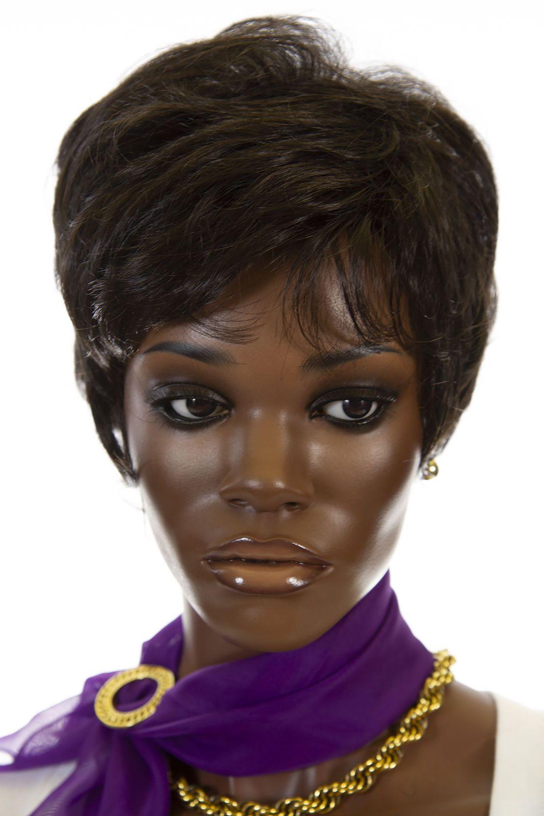 Darkest Brown Brunette Short Wavy Straight Wigs (ebay link)  a2ee50cb21a2