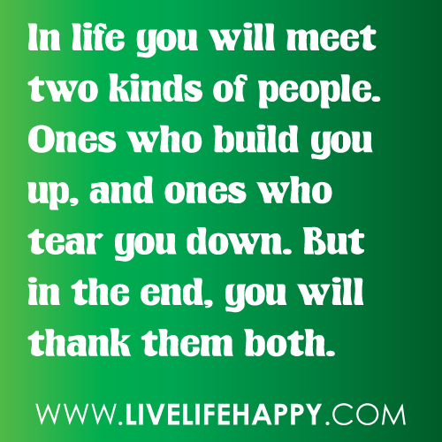 In Life…