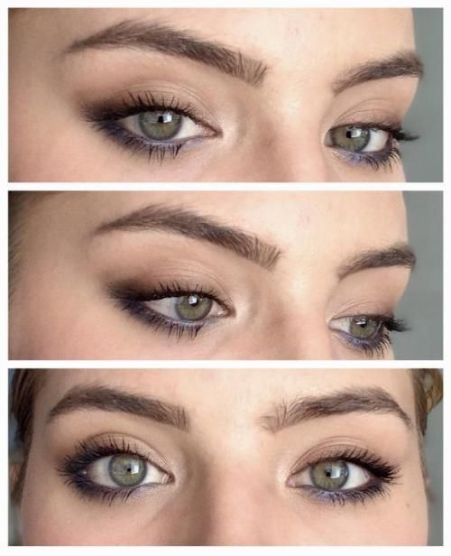 makeuphall Everyday smokey look with a hint of blue Source